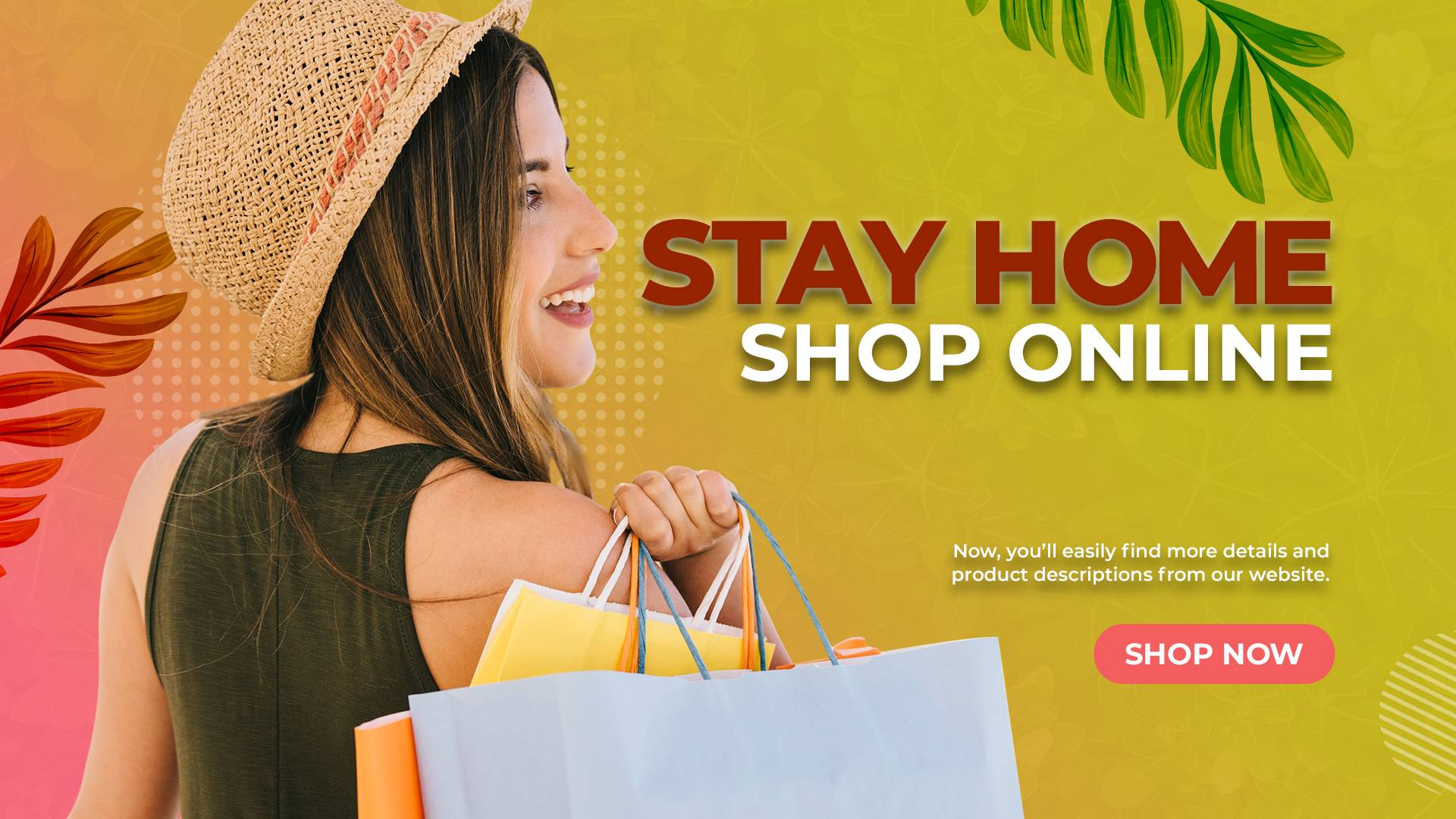 STAY HOME SHOP ONLINE