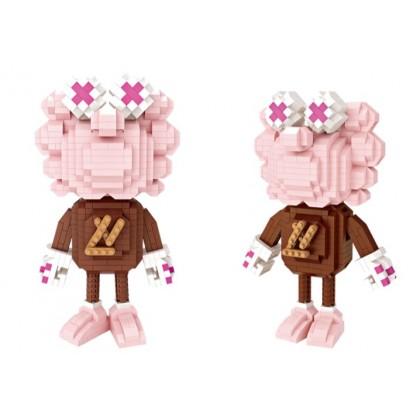 (730 Pcs) LOZ BRICK Pink Lion Building Block Creative Kids Puzzle Trend Toys Cute Animal (Lion Pink)