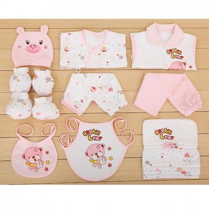 (17 Pieces Set) MILANDO Newborn Baby Gift Box Set Baby Cloth Diaper Set (Type 1)