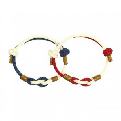 MILANDO Men Ladies Rope Bracelet Lover Adjustable Bracelet Jewelry Decoration (Type 14)