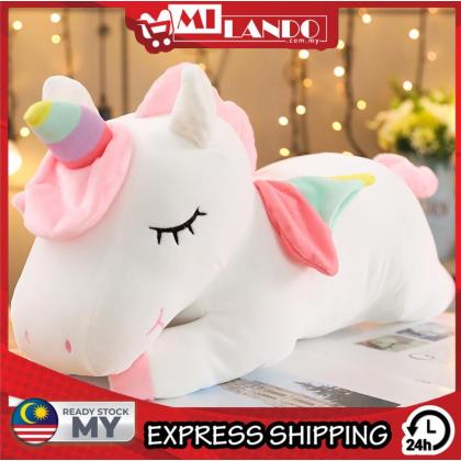 MILANDO Angel Unicorn Doll Rainbow Pony Plush Toy Pillow 30cm (Type 4)