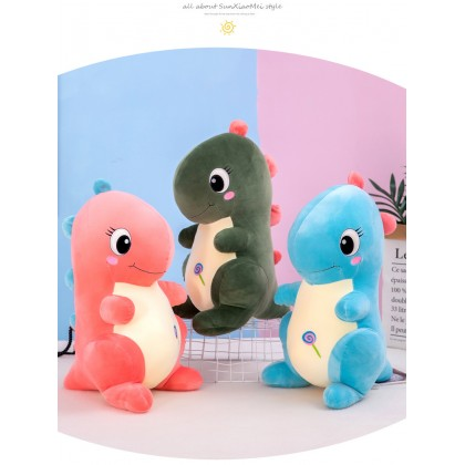 MILANDO Dinosaur Doll Tyrannosaurus Plush Toy Pillow Dino Toy Pillow 30cm (Type 5)