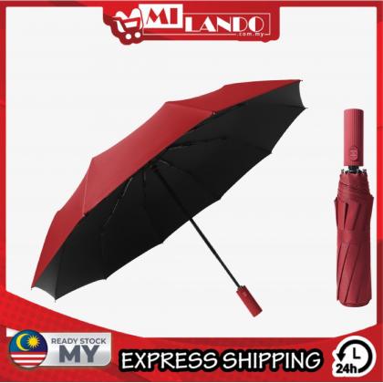 MILANDO Windproof Double Automatic 3 Folding Umbrella 10 Bones (Type 3)